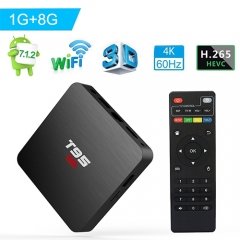 Android TV Box, Android 7.1 TV Box T95 S2 1GB RAM 8GB ROM Amlogic S905W Quad core 64 Bits 2.4GHz WiFi H.265 video decoding Smart 4K TV Box