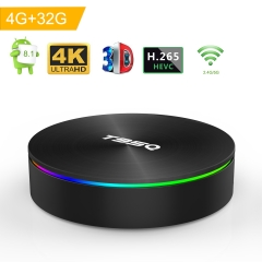 Android 8.1 TV Box, Android Box 4GB RAM 32GB ROM S905X2 Quad-core Cortex-A53 Support 2.4G/5G WiFi/H.265 Decoding/4K Full HD Output/ HDMI2.0/ 1000M Eth