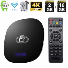 Android TV Box, A95X F1 Android 8.1 TV BOX 2GB RAM/16GB ROM Amlogic S905W Quad-Core Support 2.4Ghz WiFi 4K HDMI DLNA 3D Smart TV BOX