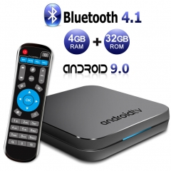 Sidiwen Android 9.0 TV Box KM9 4GB RAM 32GB ROM Amlogic S905X2 Quad Core Bluetooth 4.1 DualBand WIFI 2.4G/5G Ethernet USB 3.0 Support 3D 4K Ultra Inte
