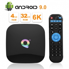 TUREWELL Android 9.0 TV BOX, 2019 Newest Android Box 4GB RAM 32GB ROM H6 Quad Core cortex-A53 Processor Smart TV Box, supports 6K Resolution 3D 2.4GHz