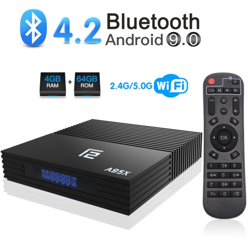 Android TV Box,Turewell F2 TV Box Android 9.0 4GB RAM 64GB ROM S905X2 Quad-core Cortex-A53 2.4/5G Wi-Fi H.265 3D 4K Bluetooth 4.2 Smart TV Box