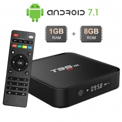 Sidiwen Android 7.1 TV Box T95M 1GB RAM 8GB ROM Amlogic S905X Quad-core 2.4G WIFI Ethernet Soporte 3D 4K H.265 Smart TV Box