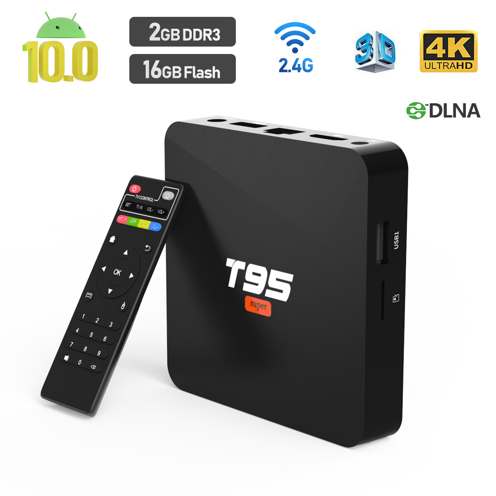 2020 Android TV Box, T95 SUPER Android 10 Box 2GB RAM 16GB ...