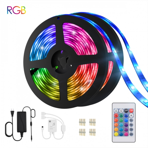 Led Strip Lights, 32.8ft 10m Flexible Waterproof Music Sync Color Changing RGB Led Light Strip for Bedroom TV Kitchen Desk Bar Home Decoration