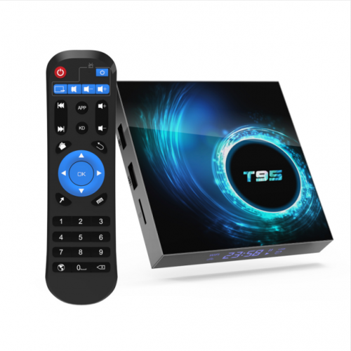 T95 Android 10.0 TV Box 4GB RAM 64GB ROM Allwinner H616 Quad core 64-bit, Support 6K HD/ 3D/ H.265 Ethernet 2.4/5.0GHz Dual WiFi Bluetooth 5.0 Smart T