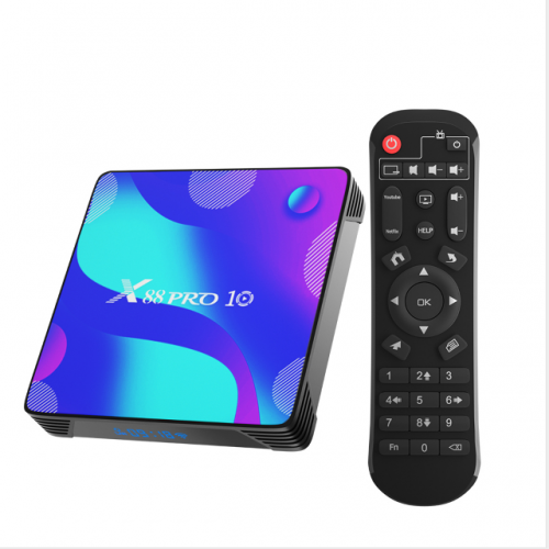 Android 10.0 TV Box, X88 Pro 10 Android Box 4GB RAM 32GB ROM RK3318 Quad-Core Support 2.4G/5.0G Dual WiFi Bluetooth 4.0 Ethernet LNA 3D 4K
