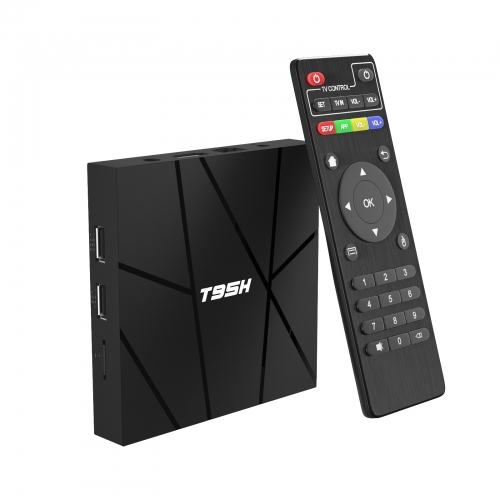 Android TV Box, Android 10.0 TV Box H616 Quad core 1 Go de RAM 8 Go de ROM Support 3D 6K Ultra HD H.265 WiFi 2.4 GHz 10/100 Ethernet HDMI Smart TV Box