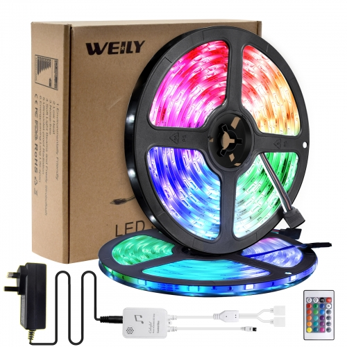 Led Strip Lights 10M Waterproof, WEILY 5050 RGB Color Changing Led Light Strip[Energy Class A+++]